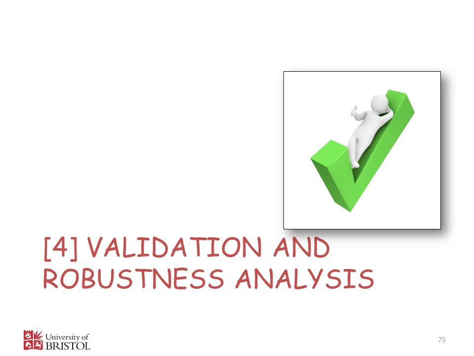 [4] Validation and robustness analysis